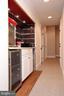Snack area with refrigerator outside movie room - 9600 TERRI DR, LA PLATA