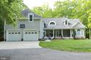 Back of the home with huge garage and porch area - 9600 TERRI DR, LA PLATA