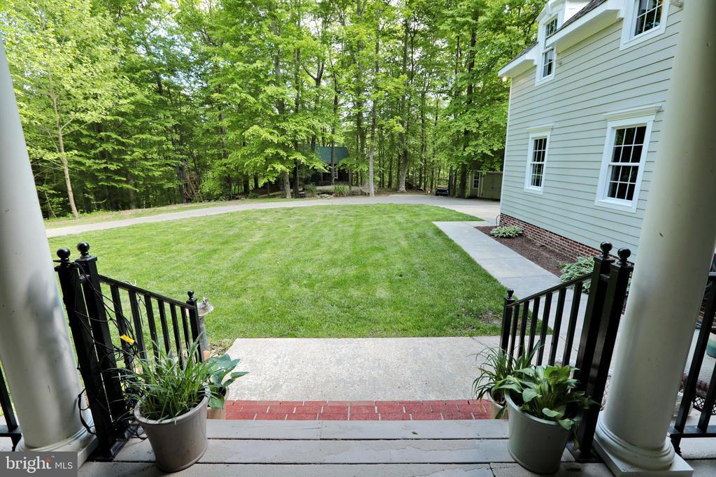 View from back porch - 9600 TERRI DR, LA PLATA