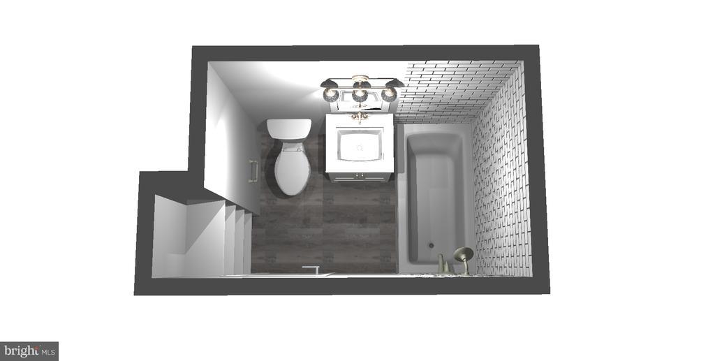 Rendition of Bathroom - 7358 LEE HWY #T1, FALLS CHURCH