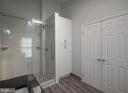 Shower stall in MBR  w. linen closet - 14090 RED RIVER DR, CENTREVILLE