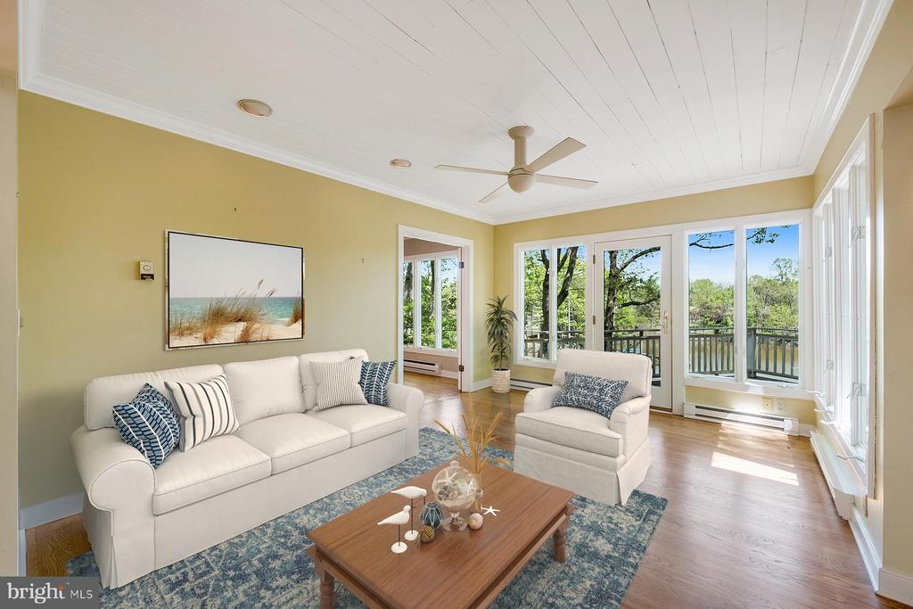 Living room has water views - 104 FOGLE DR, ANNAPOLIS