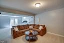 Finished lower level w/den and recreation room - 26022 GLASGOW DR, CHANTILLY