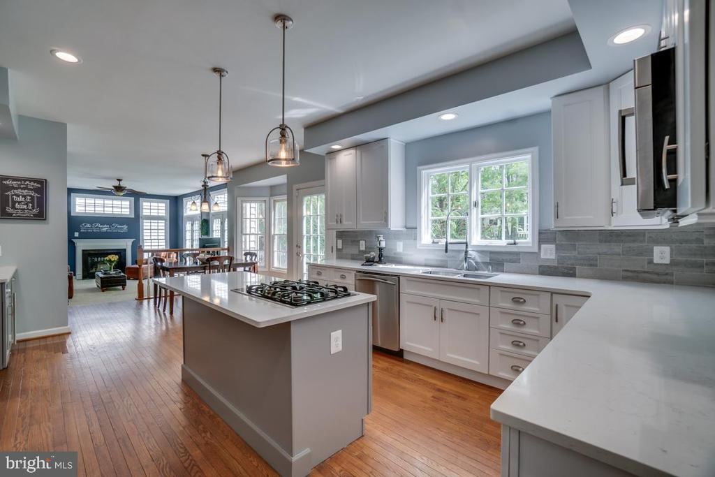 Newly renovated gourmet kitchen - 26022 GLASGOW DR, CHANTILLY