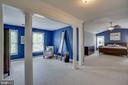 Enormous master suite w/sitting room - 26022 GLASGOW DR, CHANTILLY