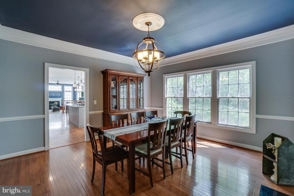 Spacious dining room - 26022 GLASGOW DR, CHANTILLY