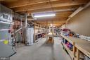 Enormous storage areas in lower level - 26022 GLASGOW DR, CHANTILLY
