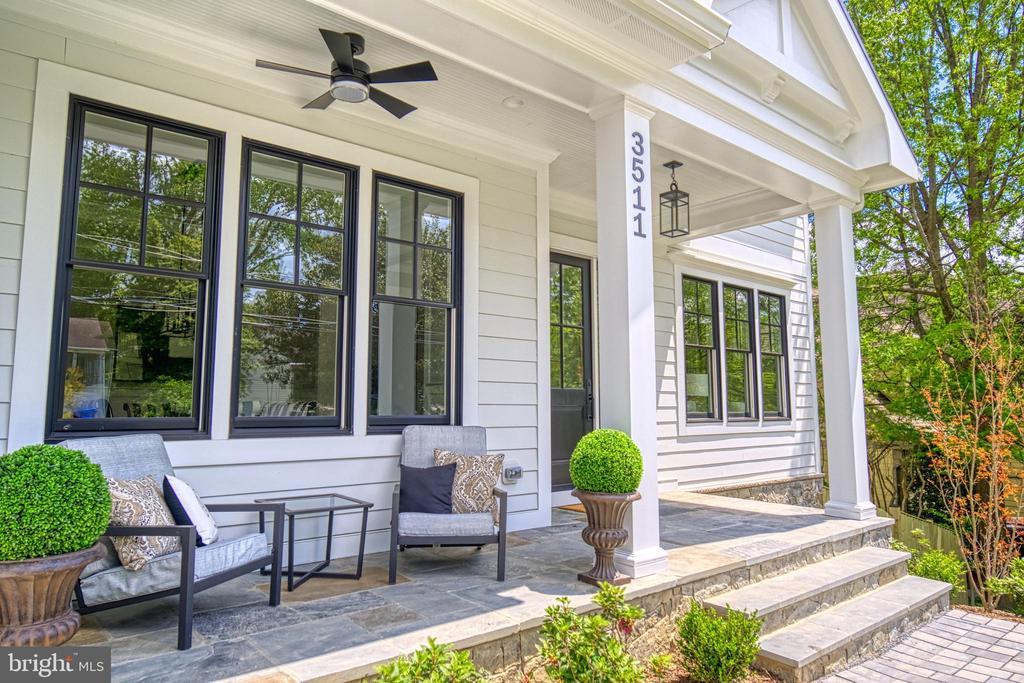 Flagstone front porch - 3511 N POTOMAC ST, ARLINGTON