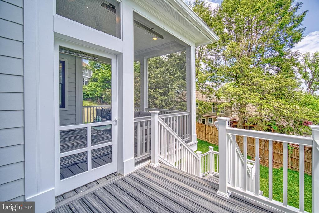 Deck to backyard - 3511 N POTOMAC ST, ARLINGTON