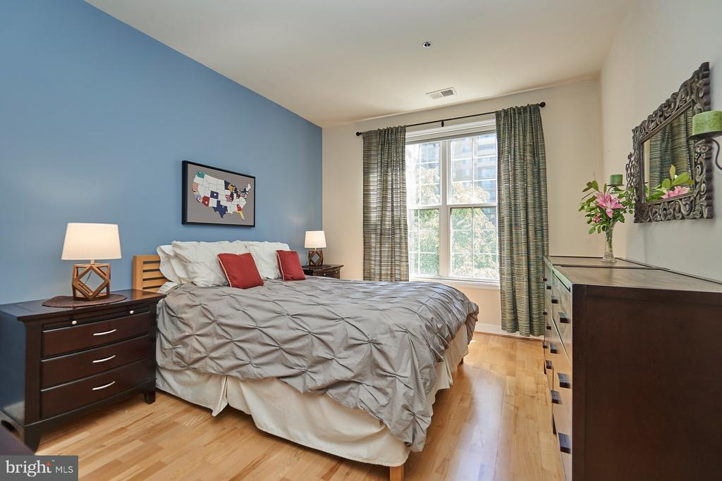 Master bedroom with walk-in closet - 1320 N WAYNE ST #301, ARLINGTON