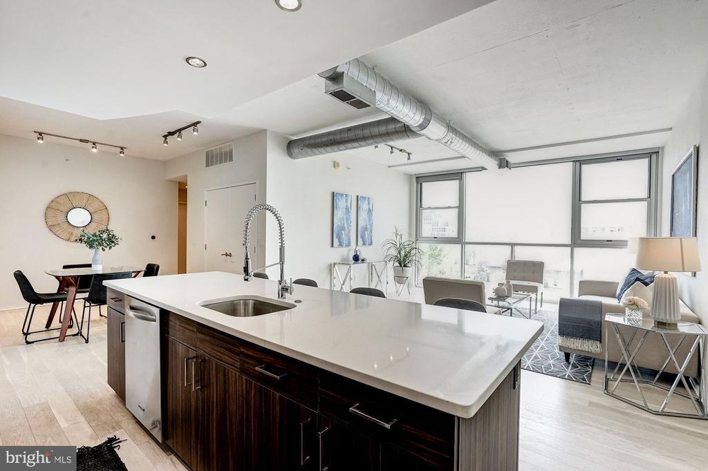 Kitchen and Living Room - 3409 WILSON BLVD #504, ARLINGTON