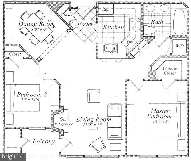 Floor plan - 1320 N WAYNE ST #301, ARLINGTON