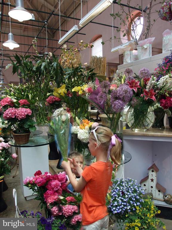 Food and flowers at Eastern Market - 719 NORTH CAROLINA AVE SE, WASHINGTON