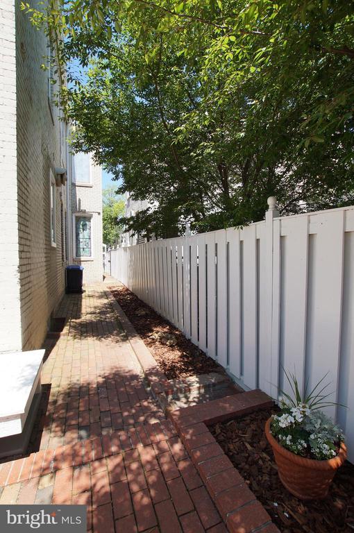 Gated walkway to the street - 719 NORTH CAROLINA AVE SE, WASHINGTON