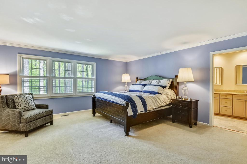Private Master Bedroom  with view of trees - 9706 FEROL DR, VIENNA