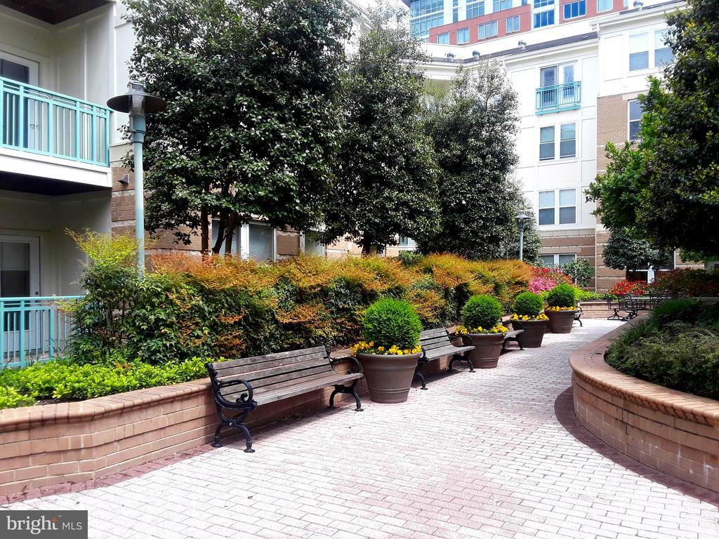 Around the courtyard - 12001 MARKET ST #177, RESTON