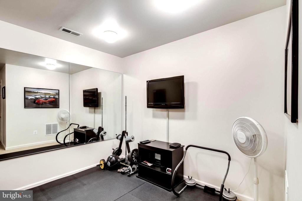 Garage Level Workout Room / Den - 7109 SILVERLEAF OAK RD #164, ELKRIDGE