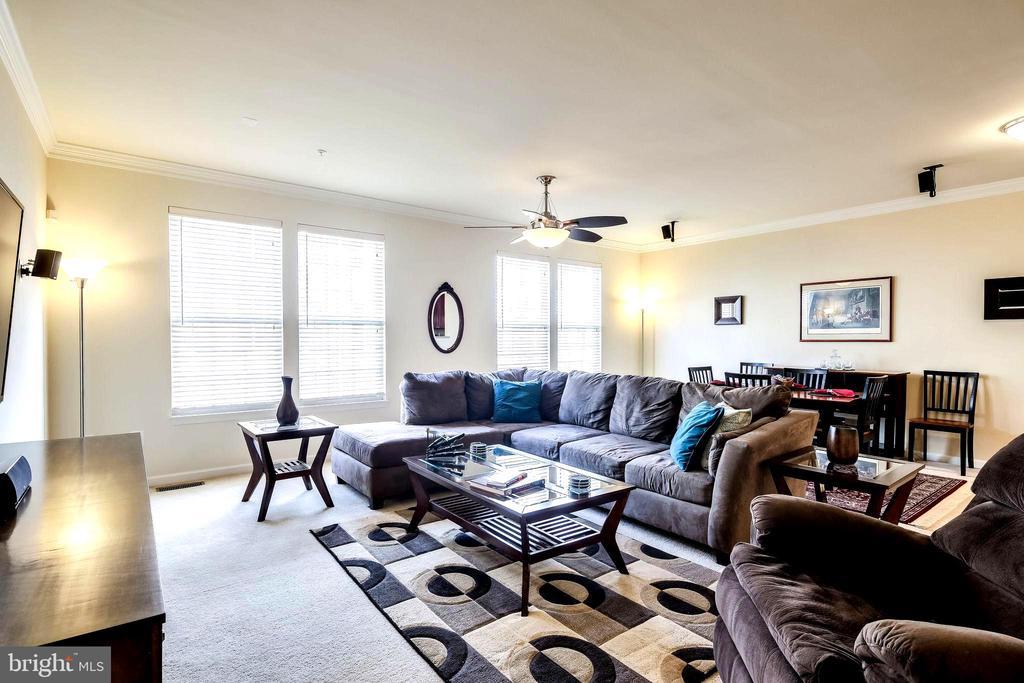 Bright, Spacious Living Room with Crown Molding - 7109 SILVERLEAF OAK RD #164, ELKRIDGE