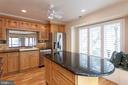 Island with breakfast bar and window seat - 2150 CHESAPEAKE HARBOUR DR, ANNAPOLIS