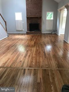 REFINISHED GLEAMING HARDWOOD FLOORS Family room - 2 KINGSLEY CT, STAFFORD