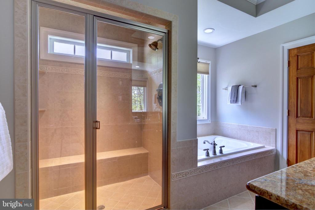 Master bath with steam bath in shower - 12371 TAYLORSTOWN RD, LOVETTSVILLE