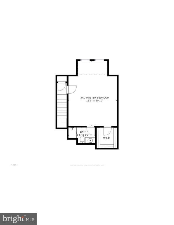 Uppermost level floorplan - 116 WATERLINE CT, ANNAPOLIS