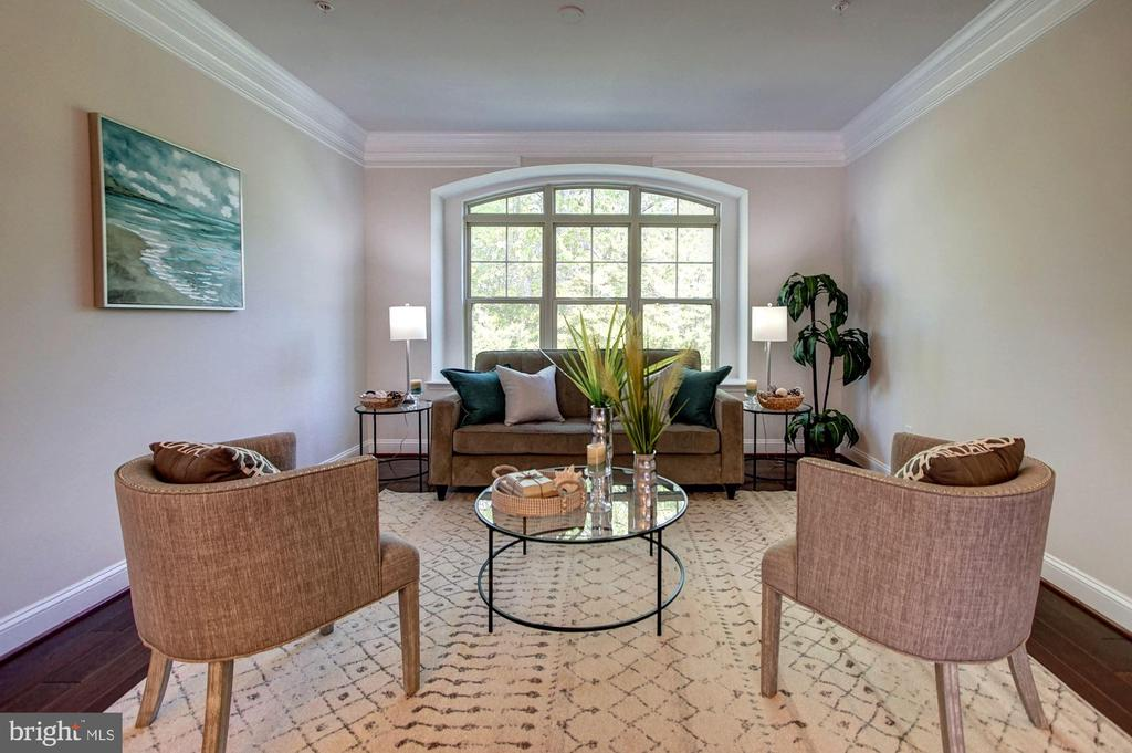 Living room with treed views - 116 WATERLINE CT, ANNAPOLIS