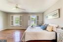 Bright master bedroom has plantation shutters - 1331 STOKLEY WAY, VIENNA