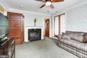 Sitting room adjacent to master, gas fireplace - 2 CUMBERLAND CT, ANNAPOLIS