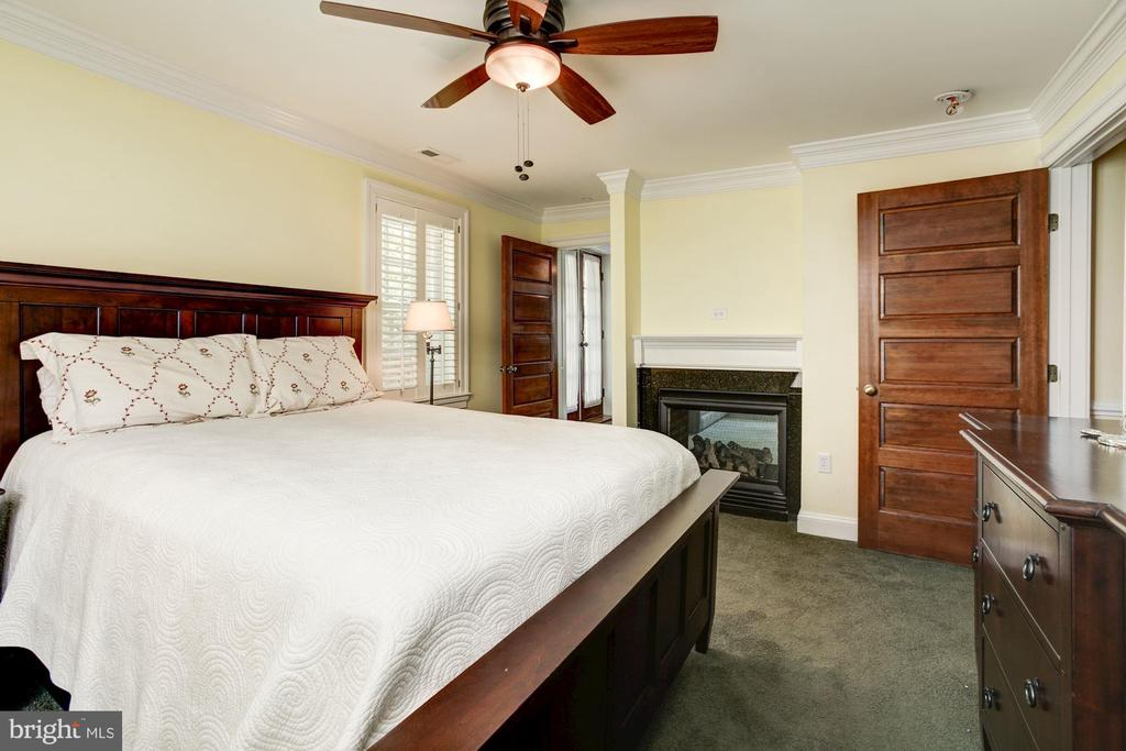 Master bedroom, gas fireplace, walk-in closet - 2 CUMBERLAND CT, ANNAPOLIS