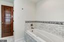 Jacuzzi tub opposite windows to courtyard views - 2 CUMBERLAND CT, ANNAPOLIS