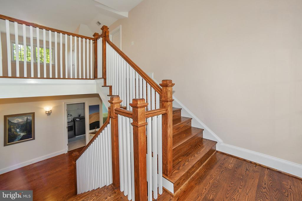 Stair to Top Level - 7117 EXFAIR RD, BETHESDA