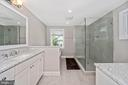 Master Bath w/ separate shower - 5606 FOREST PL, BETHESDA