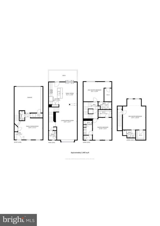 All 4 levels & approximately 2,460 sq ft! - 116 WATERLINE CT, ANNAPOLIS