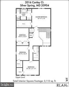 Upper Level Floorplan - 18537 TRAXELL WAY, GAITHERSBURG