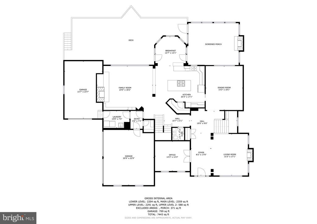 6 Purcell Court Main Level Floorplan - 6 PURCELL CT, POTOMAC