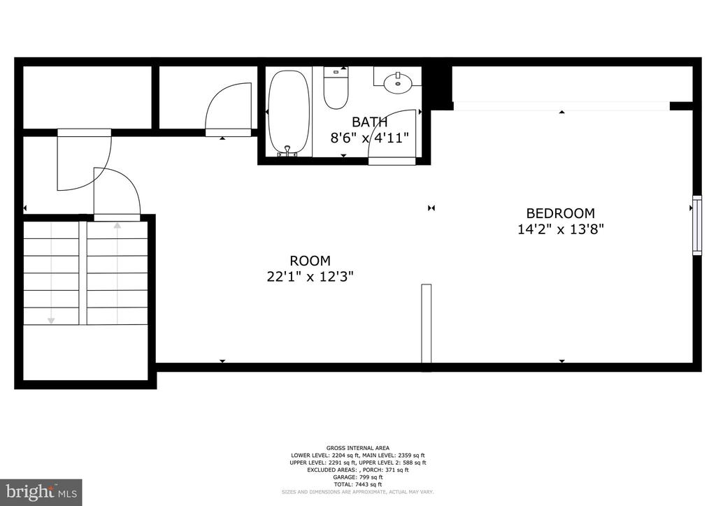 6 Purcell Court Upper Level 2 Floorplan - 6 PURCELL CT, POTOMAC