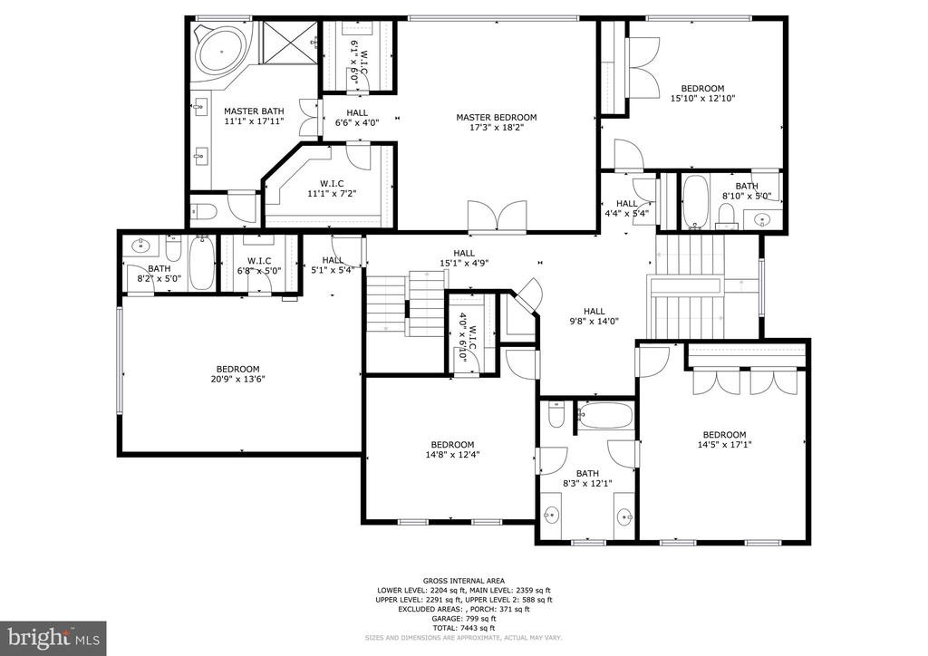 6 Purcell Court Upper Level 1 Floorplan - 6 PURCELL CT, POTOMAC