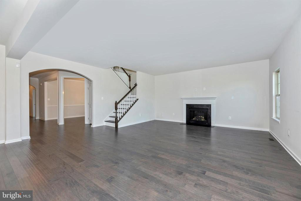 Spacious family room w/gas fireplace - 10058 HUTZELL ST, IJAMSVILLE