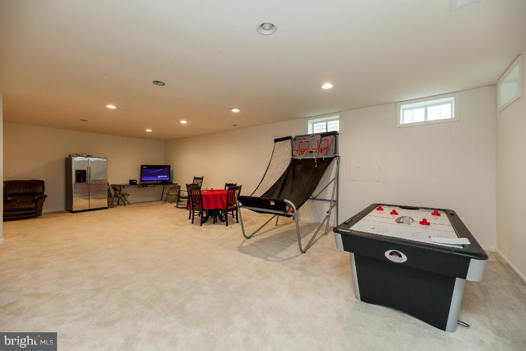 Rec room w plenty of space for all your toys. - 42426 IBEX DRIVE, STERLING