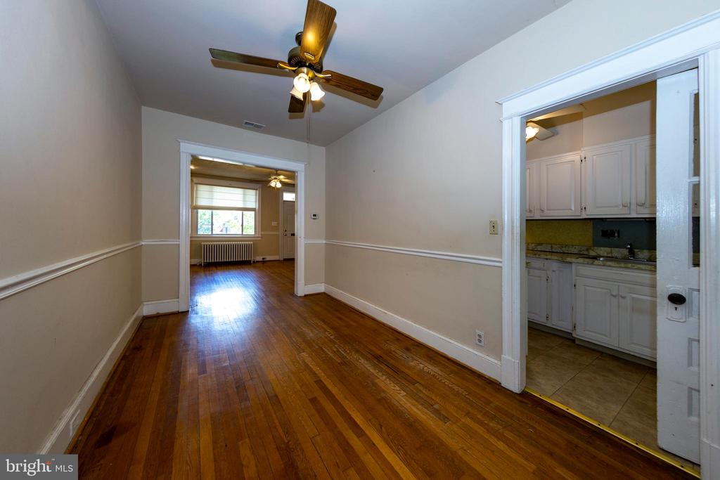 Dining room with view of kitchen and living room - 2316 2ND ST NE, WASHINGTON