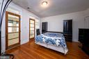 Bedroom 1 with french doors leading to bonus - 2316 2ND ST NE, WASHINGTON