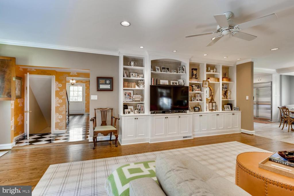 Family Room with entertainment center & built-ins - 1209 BERWICK RD, TOWSON