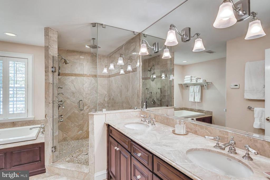Luxe Master Bath with radiant heat floor - 1209 BERWICK RD, TOWSON