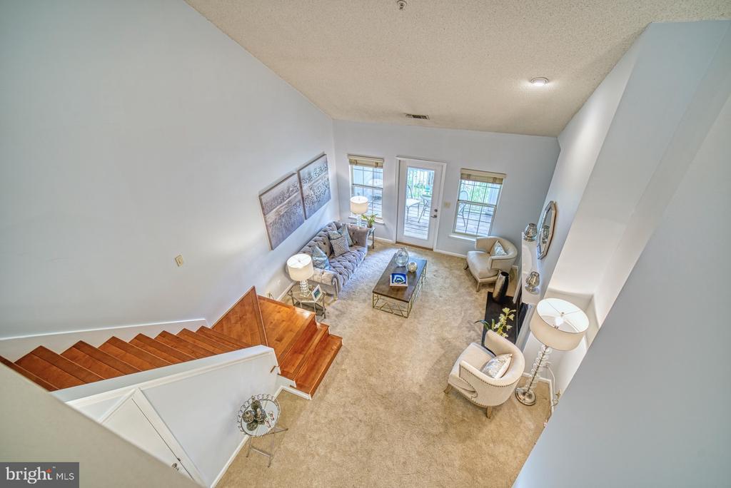 Looking down from loft - 1720 LAKE SHORE CREST DR #34, RESTON