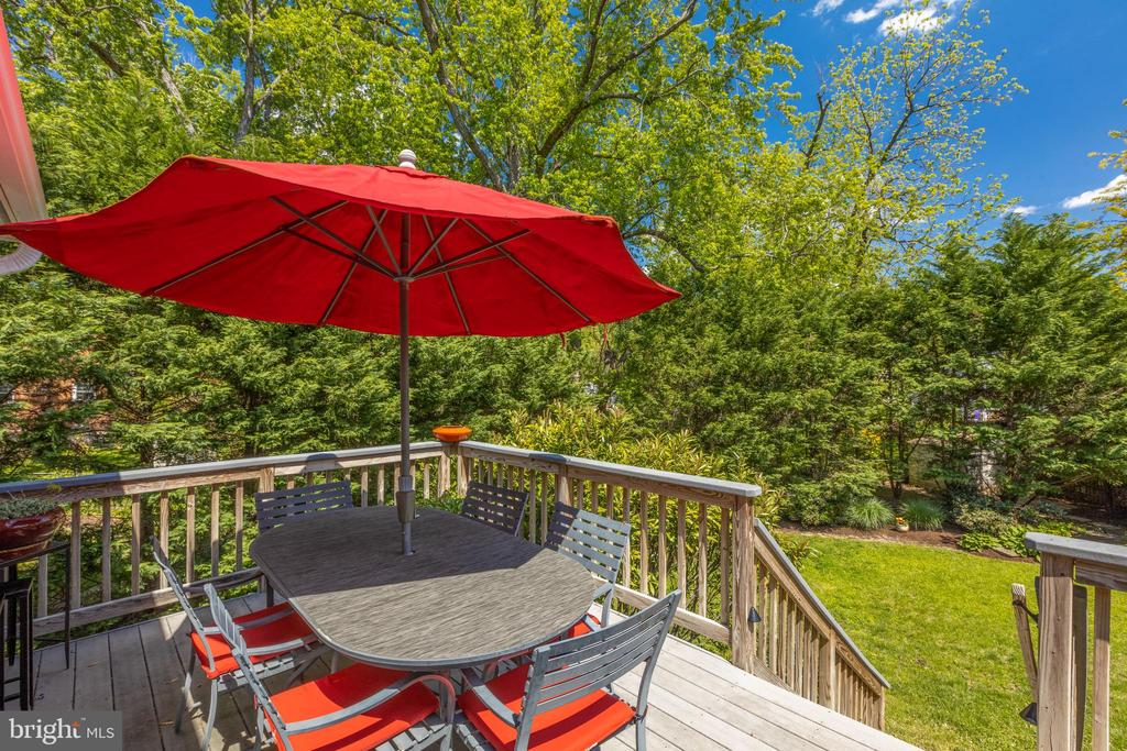 Deck off the family Room with steps to yard - 6234 22ND RD N, ARLINGTON