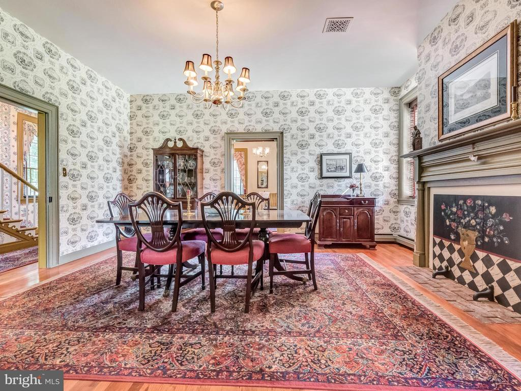 Formal Dining Room with one of 5 fireplaces - 4105 WESTON DR, KNOXVILLE