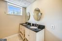 Full bathroom in lower level - 3417 HIDDEN RIVER VIEW RD, ANNAPOLIS