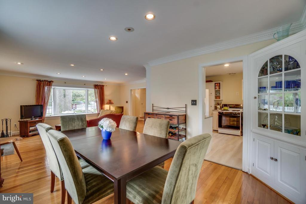 Dining room: open feeling, space for large table - 5824 BRADLEY BLVD, BETHESDA