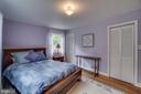 Main level master bedroom with 2 closets - 5824 BRADLEY BLVD, BETHESDA